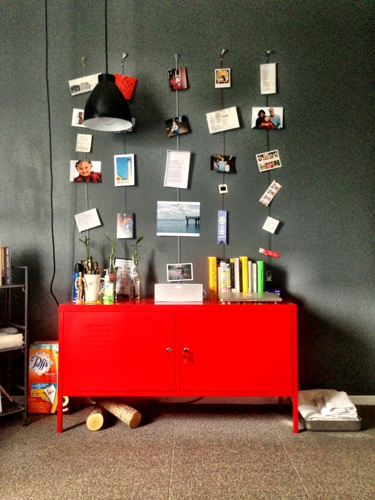 Ikea PS Cabinet, Photojojo Magnetic Rope, West Elm