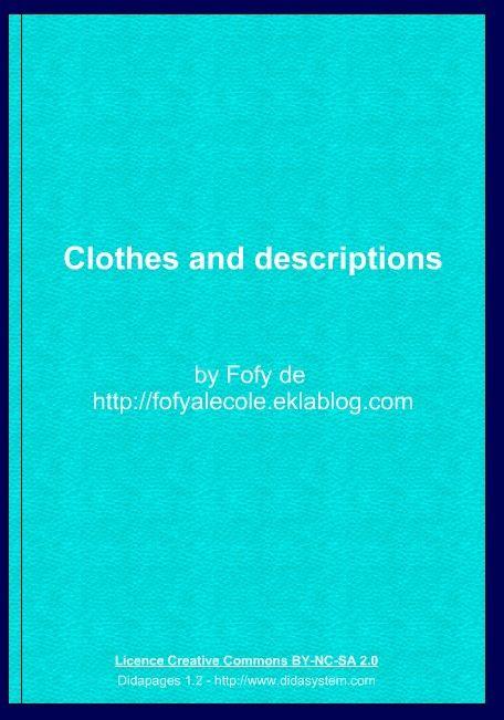 Livrets interactifs pour l'anglais - Fofy à l'école