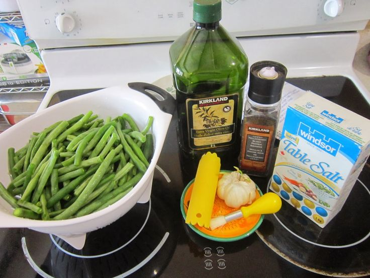 Spontaneously Creative: Roasted Garlic Green Beans