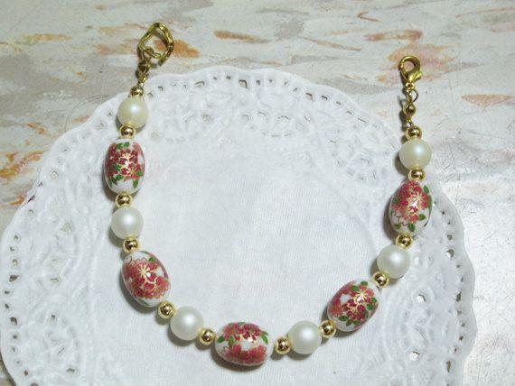 Japanese Tensha Sakura bead Matte white bead by littletuckshop, $25.00