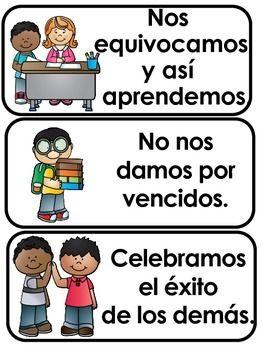 En nuestra sala de clase: expectativas de la clase en Inglés y Español