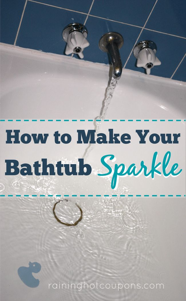 How To Make Your Bathtub Sparkle - Raining Hot Coupons •1/2 Tsp Dawn Dish Soap •1/2 Cup of Baking Soda •Warm Water •Sponge or Scrubber of Your Choice Combine water & baking soda paste to create a paste, then Add dawn, stir well. Scrub your entire bathtub with mixture. You shouldn't have to scrub hard as the paste will work while you apply it and leave you with a sparkling bathtub!