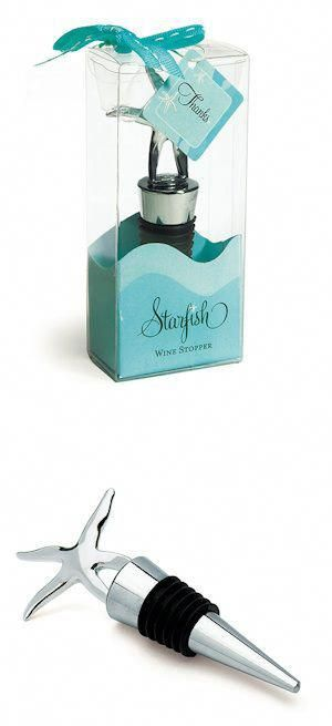 Starfish Wine Stopper from Wedding Favors Unlimited #winestopperweddingfavor #we…