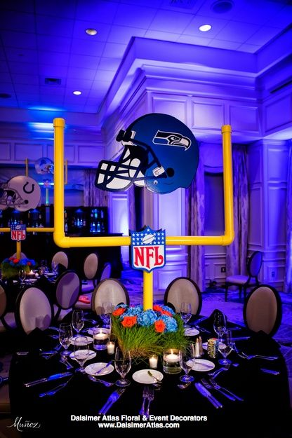 Football Bar Mitzvah | Polo Club, Boca Raton - Dalsimer Atlas Floral and Event Decorators