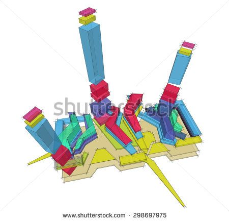 functional diagram architecture - stock photo