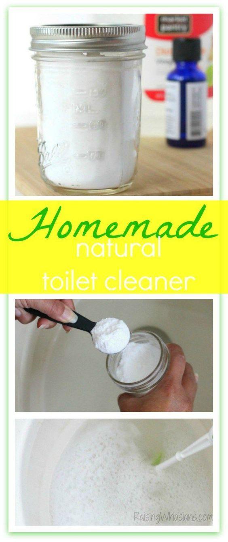 Lemon Rosemary Natural Toilet Cleaner DIY + Bathroom Toilet Spring Cleaning Tips (ad)