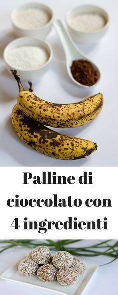 Palline di cioccolato vegan con 4 ingredienti. Sul blog altre ricette vegan light, estive, dolci vegani, senza glutine, per la dieta, proteiche, vegetariane e vegane, veloci e facili in italiano.