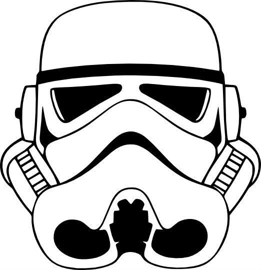 Star Wars Stormtrooper casque vinyle autocollant. Un autocollant, vous pouvez coller à une fenêtre de la voiture, Macbook, ipad, ordinateur