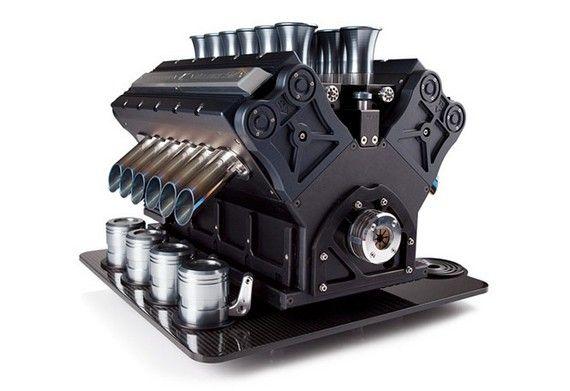 Cafetera V12, a precio de auténtico motor V12 - http://www.actualidadmotor.com/2013/12/31/cafetera-v12-espresso-veloce/
