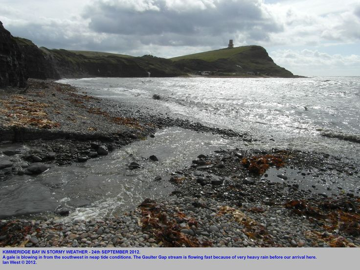 Kimmeridge Bay, Dorset, in a southwesterly gale, 24th September 2012