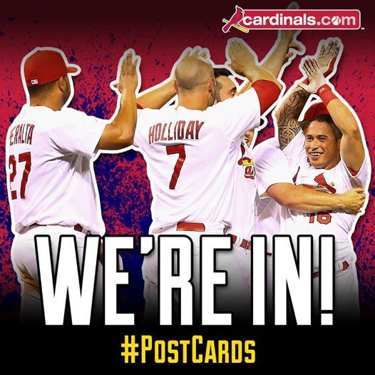 Cardinals are going to the Post Season again in 2014 ;)