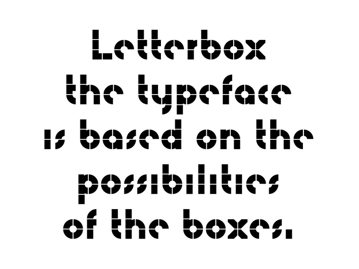 ·|· letterboxes typeface— the design office —downloadable font available for free through open font license. based on their building blocks for creating geometric shapes & letterforms