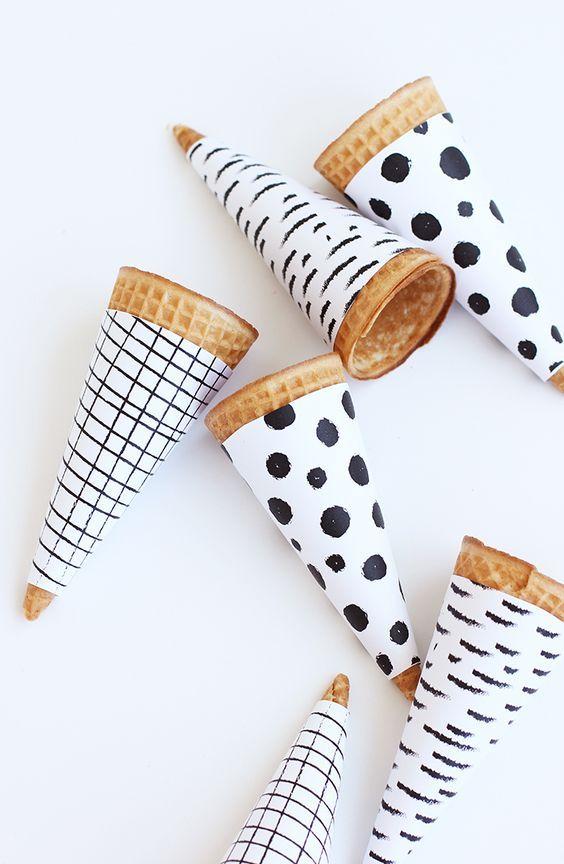 Printable Ice Cream Cone Wrapper   alice & lois