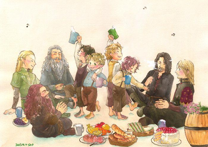 Tags: Fanart, The Lord of the Rings, Pixiv, Frodo Baggins, Aragorn II Elessar Telcontar, Boromir, Gimli, Samwise Gamgee, Meriadoc Brandybuck...