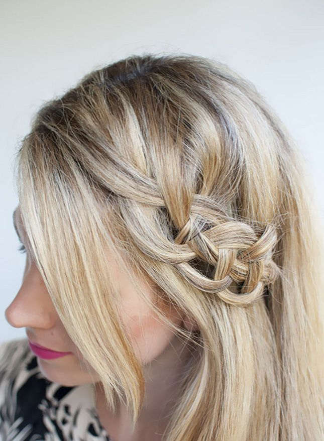 Upgrade your three-strand braid hairstyle with this four-strand 'do.