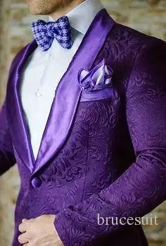 >> Click to Buy <<  2017 Brand Purple Mens Floral Blazer Designs Mens Paisley Blazer Slim Fit Suit Jacket Men Wedding Tuxedos Fashion Male Suits #Affiliate