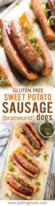 Gluten free and low Gluten free and low carb eaters can enjoy...  Gluten free and low Gluten free and low carb eaters can enjoy these Sweet Potato Sausage Dogs. Seared Johnsonville bratwurst sausages on a tender sweet potato. A fun and healthy hot dog alternative. #ad www.platingpixels Recipe : http://ift.tt/1hGiZgA And @ItsNutella  http://ift.tt/2v8iUYW