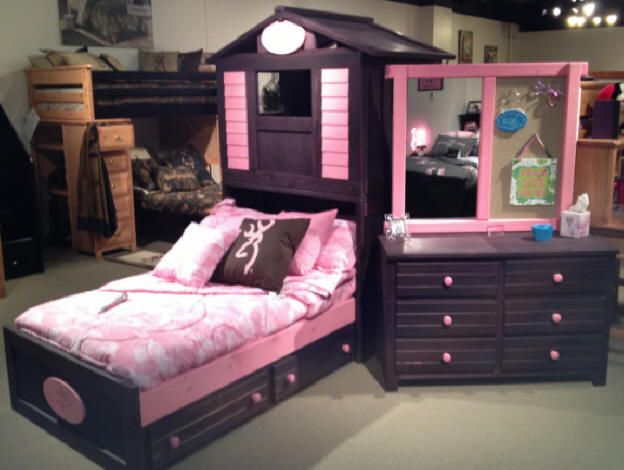Totally Kids Totally Bedrooms: Purple Clubhouse Bed For Girls Only From Totally Kids Fun