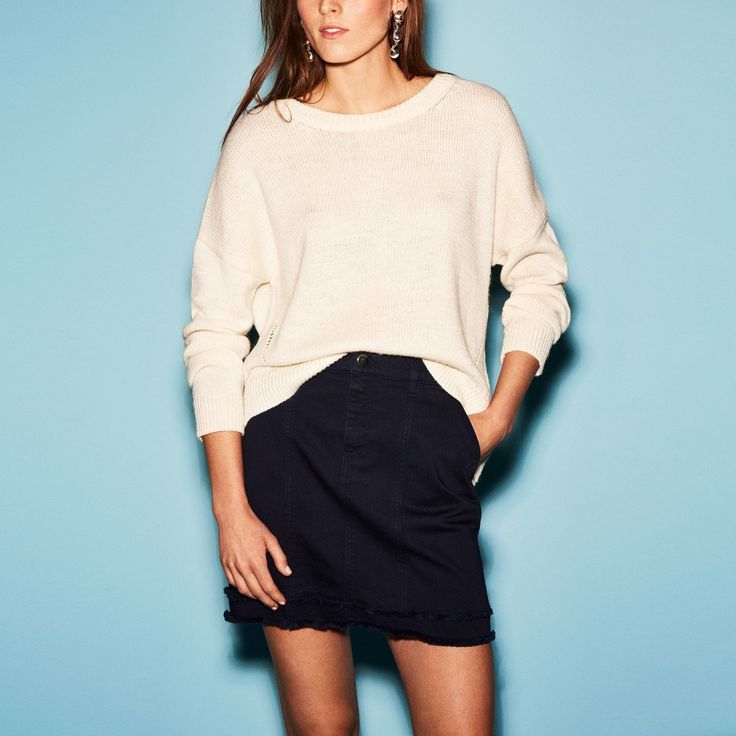 FWSS ARISE DEAR BROTHER cotton twill mini skirt in Peacoat blue - FWSS - Fall Winter Spring Summer - shop online