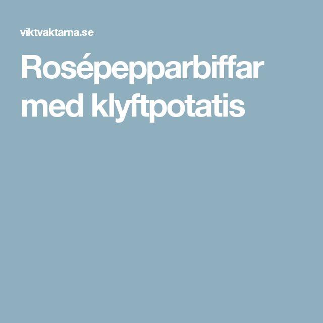 Rosépepparbiffar med klyftpotatis
