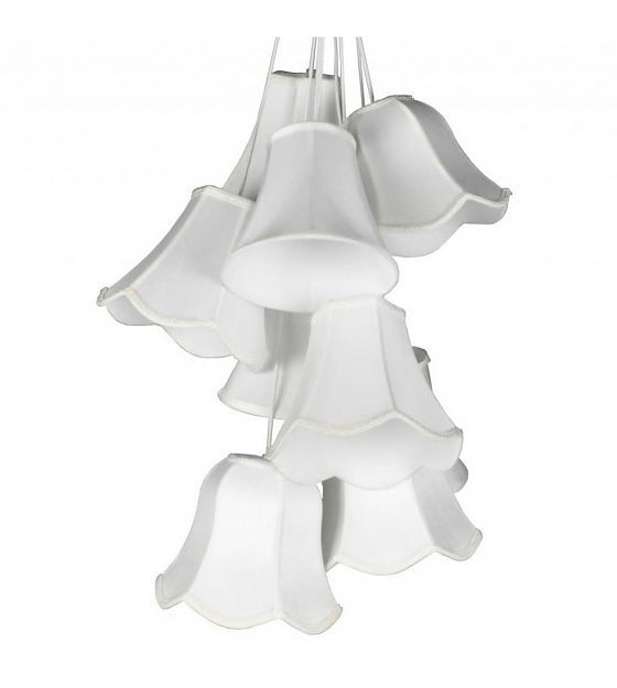 Zuiver Hanglamp Granny wit satijn Ø50x130cm - wonenmetlef.nl