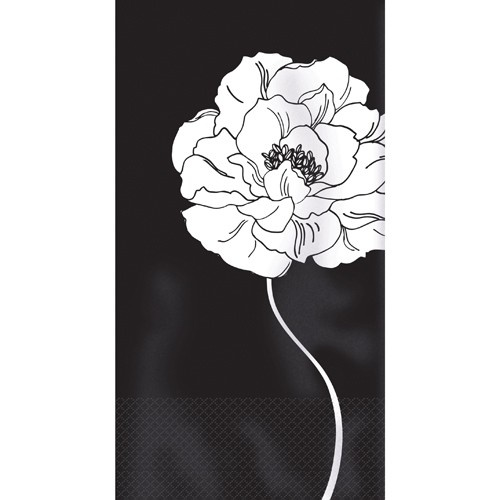 Cheap Guest Towels: Purity Black & White Guest Towels PlatesAndNapkins.com