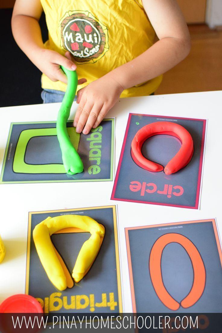 Teigformmatten #backtoschool #preschool #homeschool #math #shapes –    – Spiele