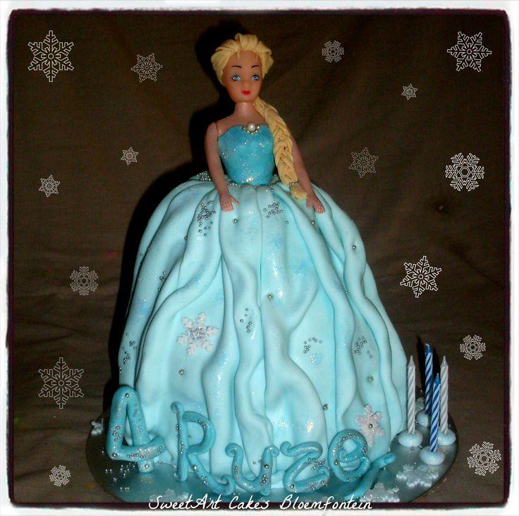 FROZEN Elsa Doll Cake (R400)  For more information email SweetArtBfn@gmail.com or call 0712127786. Follow us on Facebook https://www.facebook.com/sweetart.bloemfontein or visit our website at http://sweetartbfn.wix.com/home