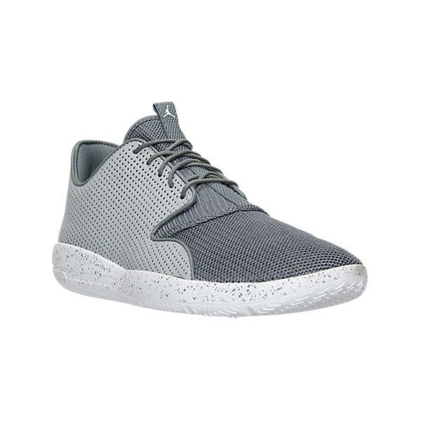 Nike Men's Air Jordan Eclipse Off Court Shoes ($90) ❤ liked on Polyvore featuring men's fashion, men's shoes, men's athletic shoes, grey, men's low top shoes, mens shoes, mens mesh shoes and mens leopard print shoes