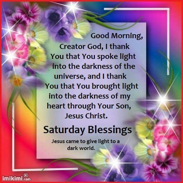 Good Morning God Saturday Blessings