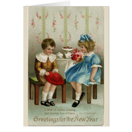 Greetings for the New Year Card - New Year's Eve happy new year designs party celebration Saint Sylvester's Day