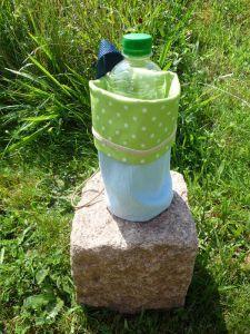 Becher- od. Flaschen-Halter genäht  abwaschbar und zum befestigen (1)