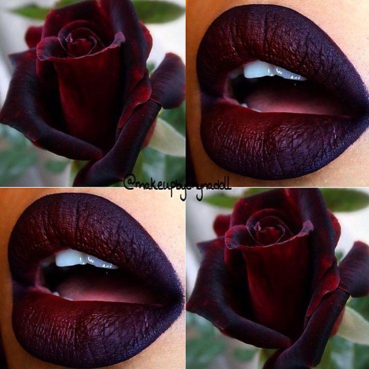 "meltcosmetics on Instagram: ""@makeupbychynadoll using DARK ROOM lipstick !!! @anastasiabeverlyhills potion & @jeffreestarcosmetics unicorn blood #meltdarkroom #meltcosmetics"""