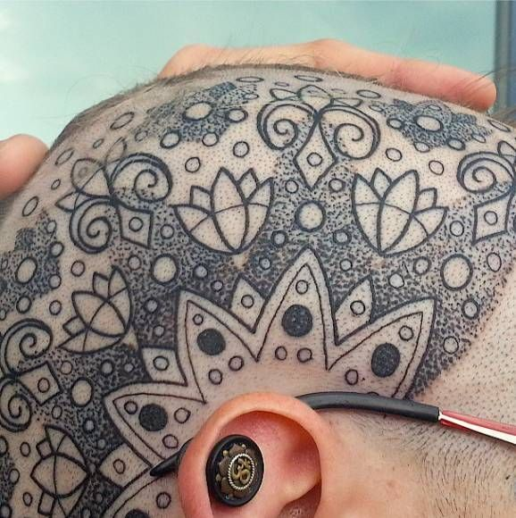 Bald Head Tattoo List | Photos of Tattoos on Heads (Page 2)
