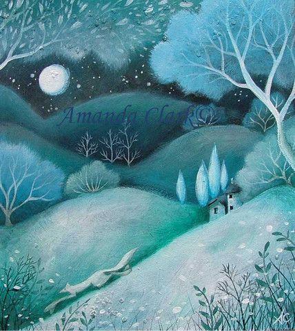 I like Amanda Clark's art style! Moonlit Tale