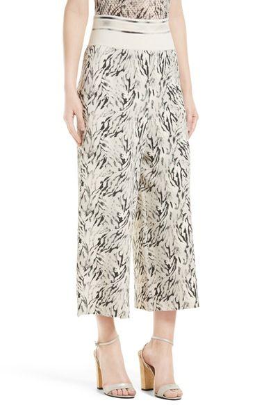 Main Image - Victor Alfaro Zebra Print Gaucho Pants