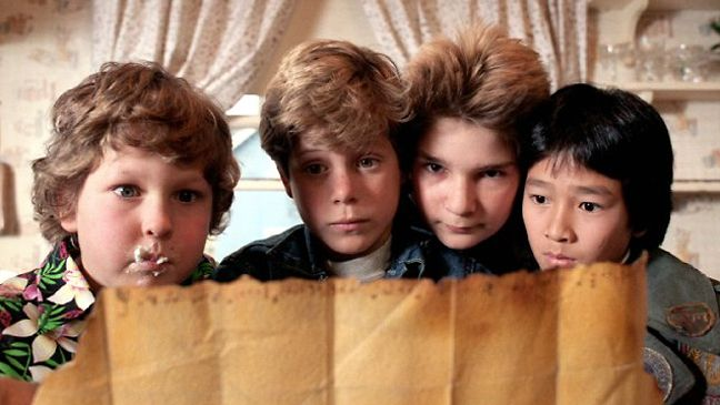 """The Goonies - """"Hi Willie. Oh, I'm Mike Walsh. You've been expecting me, haven't you? Well I made it. I beat you. I got here in one piece... so far. """""""