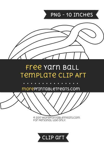 free yarn ball template clipart clipart files pinterest yarn