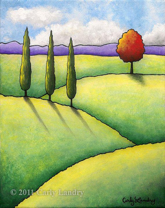 Campagna Toscana  Fine Art Tuscany Landscape Print by Landry