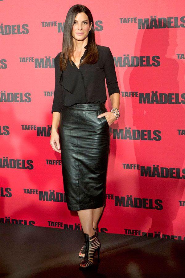 Sandra Bullock - saia lápis de 20 a 60 anos