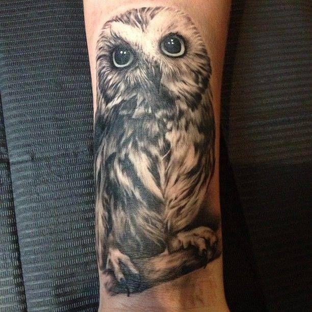Owl tattoo augen