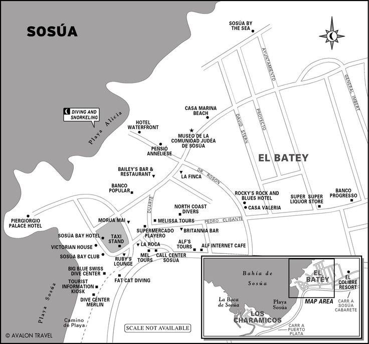 Map of Sosúa, Dominican Republic