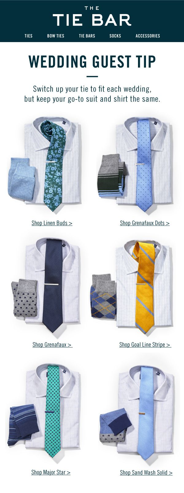 Six ways to wear our Tattersall shirt to a wedding. Shirts for $55 or 3/$140 at www.TheTieBar.com