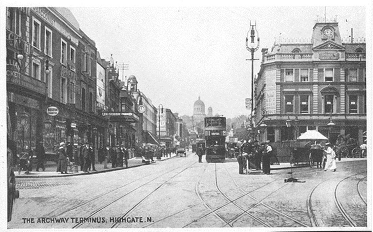 "Archway ""Highgate"" Tram Terminus via Crich Tramway Village Collection"
