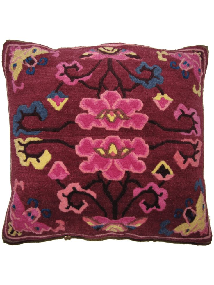 Unique rug pillow used for meditation or decoration. Designed in SoHo, Handwoven…