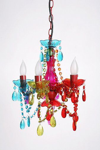 Every girls loves a little sparkle and this Small Gypsy Chandelier fits with the fanciful room theme.