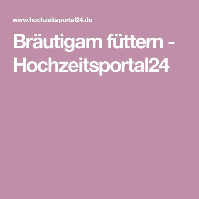 Bräutigam füttern - Hochzeitsportal24