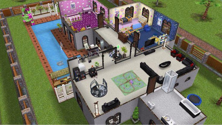 Ma maison deux tages sur sims freeplay jeux pinterest sims - Les sims freeplay maison ...