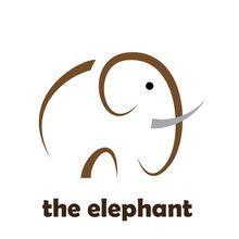 Simple Vector Logo elephant