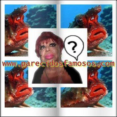 Parecidos con famosos: Carmen de Mairena con batfish